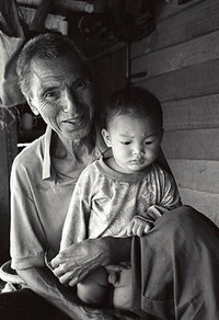 Grandfather and Child - Akha Village, Thailand - 2003